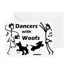 Dancers With Woofs Greeting Card