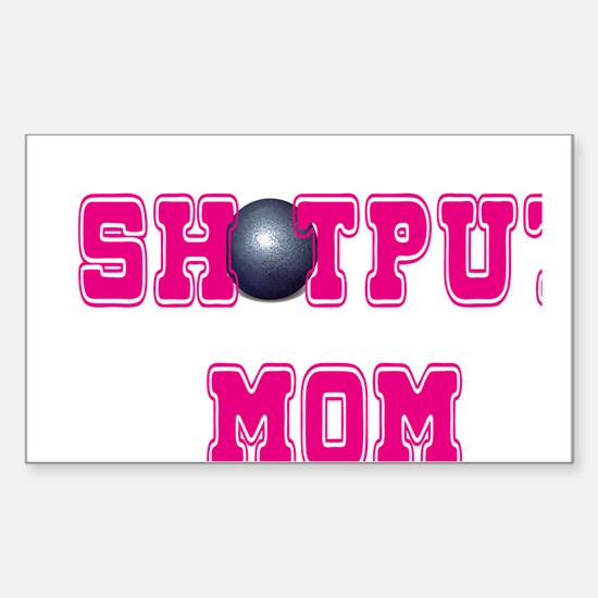 Shotput Mom Sticker (Rectangle)