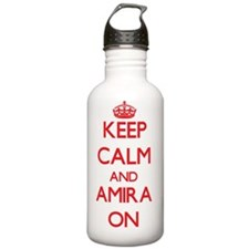 Keep Calm and Amira ON Water Bottle