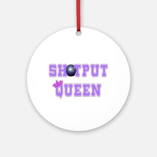 Shotput Queen Ornament (Round)
