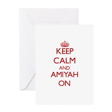 Keep Calm and Amiyah ON Greeting Cards