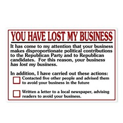 You Have Lost My Business (8 postcards)