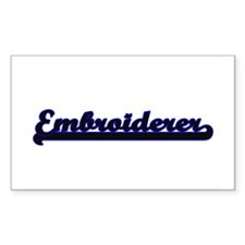 Embroiderer Classic Job Design Decal