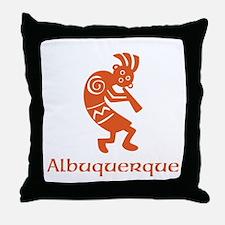 Albuquerque Kokopelli Throw Pillow