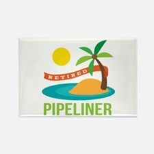 Retired Pipeliner Rectangle Magnet