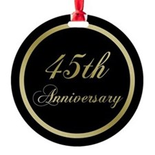 45th Wedding Anniversary Ornament