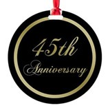 45th wedding anniversary Ornaments