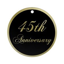 45th Wedding Anniversary Ornament (Round)