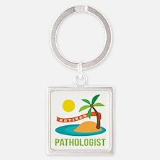 Retired Pathologist Square Keychain