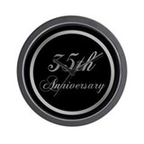 35th wedding anniversary Wall Clocks