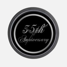 35th Wedding Anniversary Wall Clock