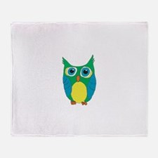 Cartoon Owl Throw Blanket