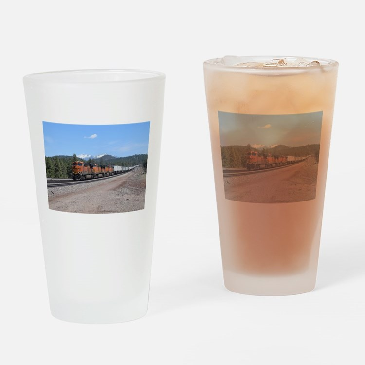 BNSF in Arizona 1 Drinking Glass