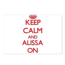 Keep Calm and Alissa ON Postcards (Package of 8)