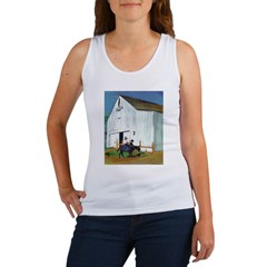 White Country Barn Women's Tank Top