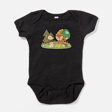 Cute Woodland Animal Theme For Kids Baby Bodysuit