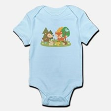 Cute Woodland Animal Theme For Kids Body Suit