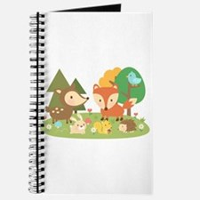 Cute Woodland Animal Theme For Kids Journal