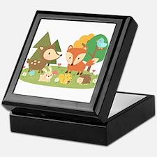 Cute Woodland Animal Theme For Kids Keepsake Box