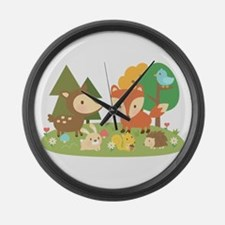 Cute Woodland Animal Theme For Kids Large Wall Clo