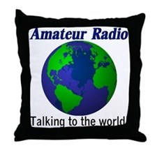 Talking To The World Throw Pillow
