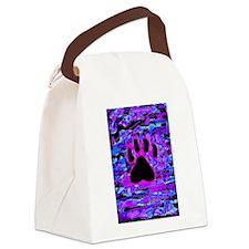 Paw Print Splatter Canvas Lunch Bag