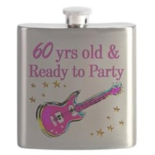 60TH ROCK STAR Flask
