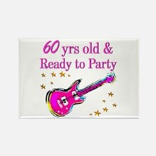 60TH ROCK STAR Rectangle Magnet