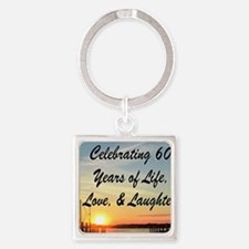 SPIRITUAL 60TH Square Keychain