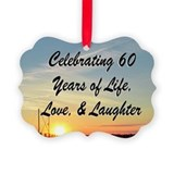 60th birthday for women Picture Frame Ornaments