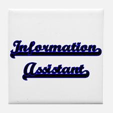Information Assistant Classic Job Des Tile Coaster