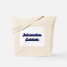 Information Assistant Classic Job Design Tote Bag