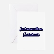 Information Assistant Classic Job D Greeting Cards