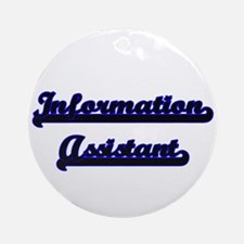 Information Assistant Classic Job Ornament (Round)