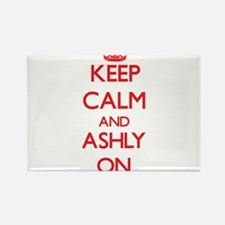 Keep Calm and Ashly ON Magnets