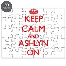 Keep Calm and Ashlyn ON Puzzle