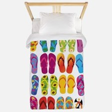 Summer Fun Flip Flops Twin Duvet