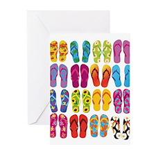 Colorful-Flip-Flops-Vector-Set Greeting Cards