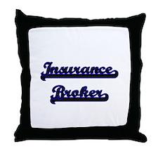 Insurance Broker Classic Job Design Throw Pillow