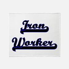 Iron Worker Classic Job Design Throw Blanket