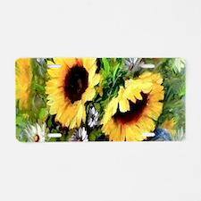 Sunflower Aluminum License Plate