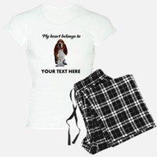 Personalized Basset Hound pajamas
