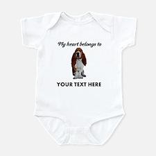 Personalized Basset Hound Infant Bodysuit