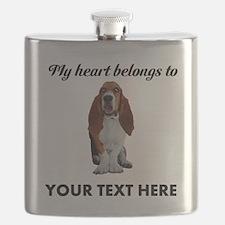 Personalized Basset Hound Flask