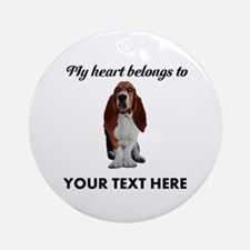 Personalized Basset Hound Ornament (Round)