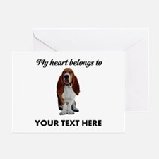 Personalized Basset Hound Greeting Card