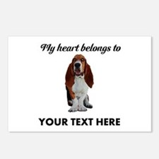 Personalized Basset Hound Postcards (Package of 8)