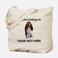 Personalized Basset Hound Tote Bag