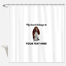 Personalized Basset Hound Shower Curtain