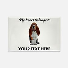 Personalized Basset Hound Rectangle Magnet